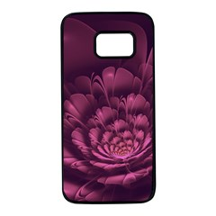 Fractal Blossom Flower Bloom Samsung Galaxy S7 Black Seamless Case by Celenk