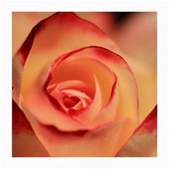 Rose Orange Rose Blossom Bloom Medium Glasses Cloth (2 Side) by Celenk