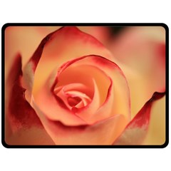 Rose Orange Rose Blossom Bloom Double Sided Fleece Blanket (large)  by Celenk