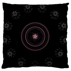 Fractal Flowers Pattern Fantasy Large Flano Cushion Case (one Side) by Celenk