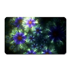 Fractal Painting Blue Floral Magnet (rectangular) by Celenk