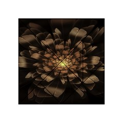 Fractal Flower Floral Bloom Brown Acrylic Tangram Puzzle (4  X 4 ) by Celenk