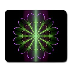 Fractal Purple Lime Pattern Large Mousepads by Celenk