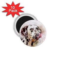 Dog Portrait Pet Art Abstract 1 75  Magnets (10 Pack)  by Celenk