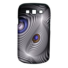 Fractal Silver Warp Pattern Samsung Galaxy S Iii Classic Hardshell Case (pc+silicone) by Celenk