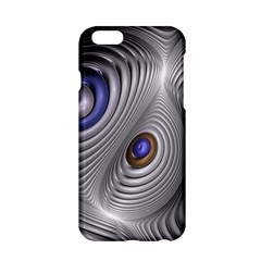 Fractal Silver Warp Pattern Apple Iphone 6/6s Hardshell Case by Celenk