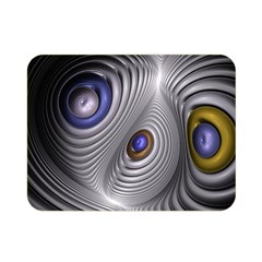 Fractal Silver Warp Pattern Double Sided Flano Blanket (mini)