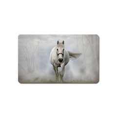Horse Mammal White Horse Animal Magnet (name Card) by Celenk