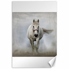 Horse Mammal White Horse Animal Canvas 24  X 36  by Celenk