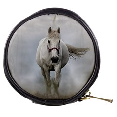 Horse Mammal White Horse Animal Mini Makeup Bags by Celenk