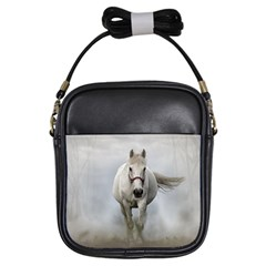 Horse Mammal White Horse Animal Girls Sling Bags by Celenk