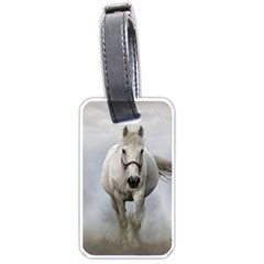 Horse Mammal White Horse Animal Luggage Tags (two Sides)