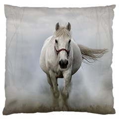 Horse Mammal White Horse Animal Standard Flano Cushion Case (two Sides) by Celenk