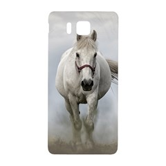 Horse Mammal White Horse Animal Samsung Galaxy Alpha Hardshell Back Case by Celenk