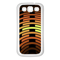 Fractal Orange Texture Waves Samsung Galaxy S3 Back Case (white) by Celenk