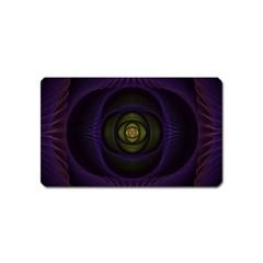 Fractal Blue Eye Fantasy 3d Magnet (name Card) by Celenk