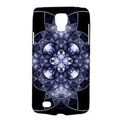 Fractal Blue Denim Stained Glass Galaxy S4 Active by Celenk
