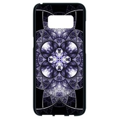 Fractal Blue Denim Stained Glass Samsung Galaxy S8 Black Seamless Case by Celenk