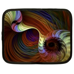 Fractal Colorful Rainbow Flowing Netbook Case (xl)  by Celenk