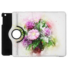 Flowers Roses Bouquet Art Nature Apple Ipad Mini Flip 360 Case by Celenk