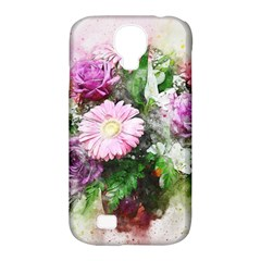 Flowers Roses Bouquet Art Nature Samsung Galaxy S4 Classic Hardshell Case (pc+silicone) by Celenk