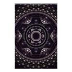 Fractal Mandala Circles Purple Shower Curtain 48  x 72  (Small)  42.18 x64.8 Curtain