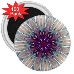 Mandala Kaleidoscope Ornament 3  Magnets (100 Pack) by Celenk