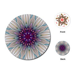 Mandala Kaleidoscope Ornament Playing Cards (round)  by Celenk