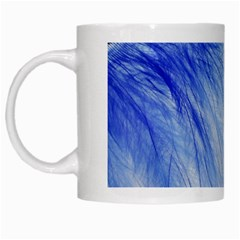 Spring Blue Colored White Mugs