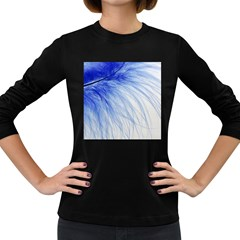 Spring Blue Colored Women s Long Sleeve Dark T Shirts by Celenk