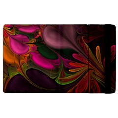 Fractal Abstract Colorful Floral Apple Ipad Pro 9 7   Flip Case by Celenk