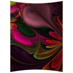 Fractal Abstract Colorful Floral Back Support Cushion by Celenk