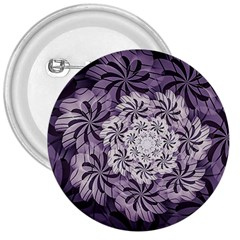 Fractal Floral Striped Lavender 3  Buttons by Celenk