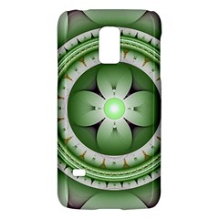 Fractal Mandala Green Purple Galaxy S5 Mini by Celenk