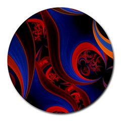 Fractal Abstract Pattern Circles Round Mousepads by Celenk