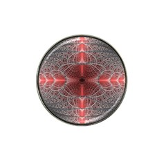 Fractal Diamond Circle Pattern Hat Clip Ball Marker by Celenk