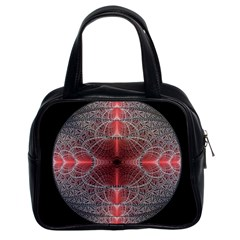 Fractal Diamond Circle Pattern Classic Handbags (2 Sides) by Celenk
