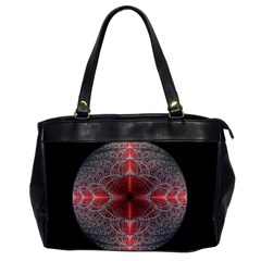 Fractal Diamond Circle Pattern Office Handbags by Celenk