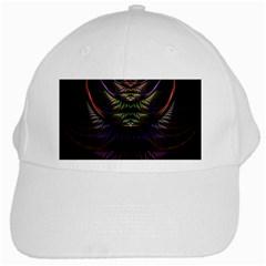 Fractal Colorful Pattern Fantasy White Cap by Celenk