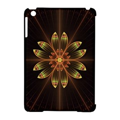Fractal Floral Mandala Abstract Apple Ipad Mini Hardshell Case (compatible With Smart Cover) by Celenk