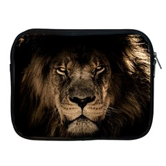 African Lion Mane Close Eyes Apple Ipad 2/3/4 Zipper Cases