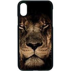 African Lion Mane Close Eyes Apple Iphone X Seamless Case (black)