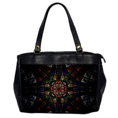 Fractal Detail Elements Pattern Office Handbags by Celenk