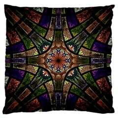 Fractal Detail Elements Pattern Standard Flano Cushion Case (two Sides) by Celenk