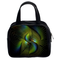 Fractal Abstract Design Fractal Art Classic Handbags (2 Sides) by Celenk
