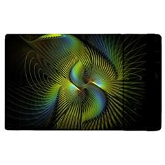 Fractal Abstract Design Fractal Art Apple Ipad 2 Flip Case