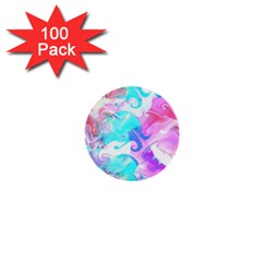 Background Art Abstract Watercolor 1  Mini Buttons (100 Pack)