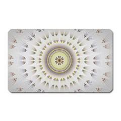 Mandala Fractal Decorative Magnet (rectangular) by Celenk