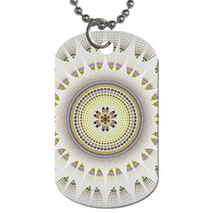 Mandala Fractal Decorative Dog Tag (one Side) by Celenk