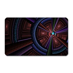 Fractal Circle Pattern Curve Magnet (rectangular) by Celenk